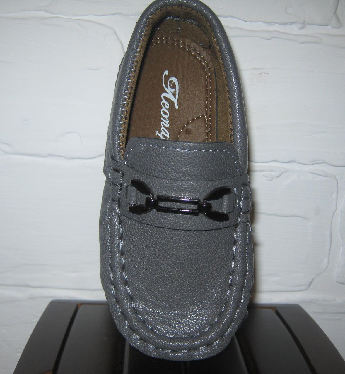 Туфли детские мокасины для мальчика, 21-25 3
