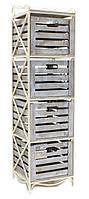Кованая этажерка (полка металлическая) 4 вертикальная