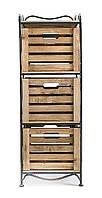 Кованая этажерка (полка металлическая) 3 вертикальная