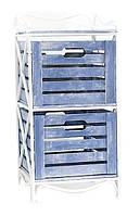 Кованая этажерка (полка металлическая) 2 вертикальная