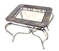 Кованый стол прямоугольный (МДФ+стекло)