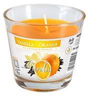 Свеча  ароматизированная в стекле ваниль-апельсин