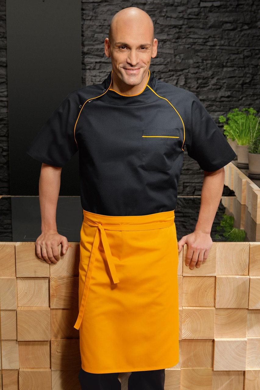 Передник для повара, официанта и бармена TEXSTYLE по колено без карманов