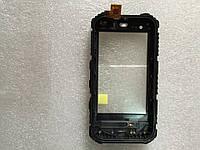 Сенсорный экран (Touchscreen) + передняя часть корпуса для смартфона land rover A8
