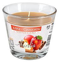 Свеча  ароматизированная в стакане яблоко корица 1шт