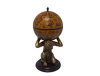 """Глобус бар напольный """"Atlas"""" - коричневый Зодиак 42016R-GR"""