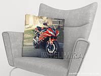 ФотоПодушка Красный мотоцикл, арт. 10 001178