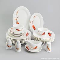 Столовый сервиз Рыбки Sakura из костяного фарфора 27 предметов арт SK-0524