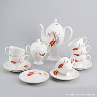 Чайный сервиз Рыбки Sakura из костяного фарфора 14 предметов арт SK-0504