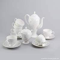 Чайный сервиз Цветы Sakura из костяного фарфора 14 предметов арт SK-0503