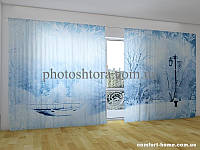 Фотоштора ПАНОРАМА 3D Зимний парк 2,7х5,0 м, арт. FRA-50000858
