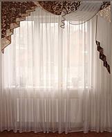 Жесткий  ламбрекен Стайл коричневый, 2м