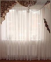 Жорсткий ламбрекен Стайл коричневий, 2м