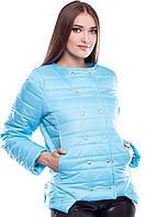 """Демисезонная голубая куртка """"Беверли"""", фото 1"""