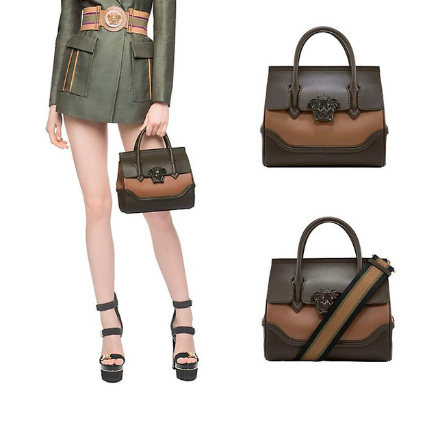 Versace Palazzo Empire Bag green with olive medium size