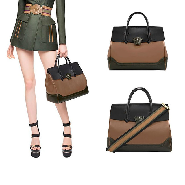 Versace Palazzo Empire Bag green with olive large size