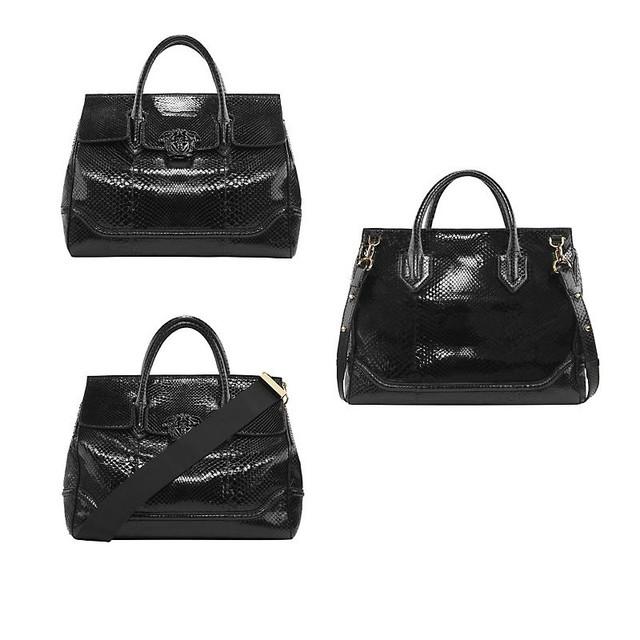 Versace Palazzo Empire Python Bag Black