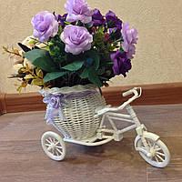 Декоративная корзина на колесах