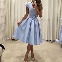 Нарядное платье для девушек, цвет серенити и пудровый