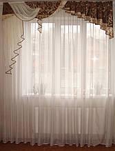 Жорсткий ламбрекен Стайл коричневий з золотом, 2м