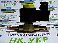 Соленоидный (соленоид) клапан (вентиль), с катушкой и клемником whicepart 1028/3, ∅ 3/8 (9.5 мм) под пайку.
