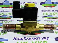 Электромагнитный (соленоидный) клапан, вентиль whicepart 1078 / 5 ∅ 5/8 (15.8 мм) под пайку с катушкой и клемн