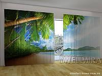 Фотоштора ПАНОРАМА 3D Пальмы и горы, 2,7х5,0 м, арт. FRA-10 001104