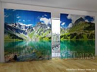 Фотоштора ПАНОРАМА 3D Прекрасное озеро Морейн, 2,7х5,0 м, арт. FRA-10 001106