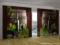 Фотоштора ПАНОРАМА 3D Вино, 2,7х5,0 м, арт. FRA-10 001112