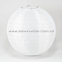 Подвесной фонарик из ткани (нейлон), белый, 20 см