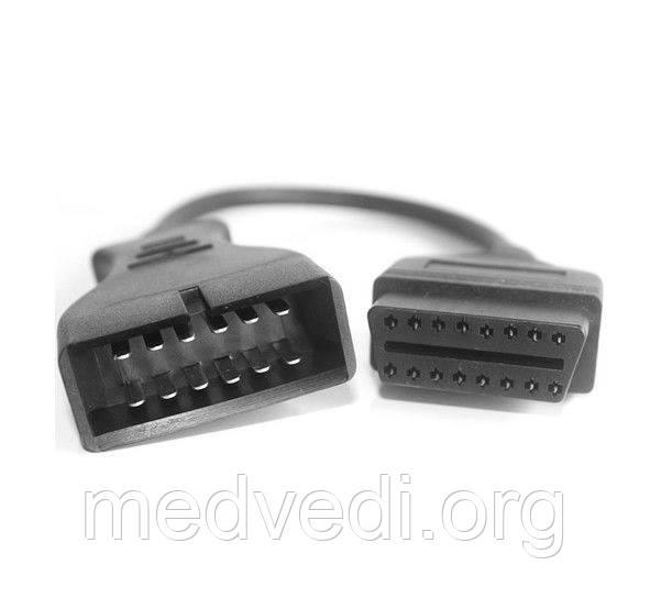 Переходник для Таврия, ЗАЗ OBD2 - OBD1, 16 pin - 12 pin