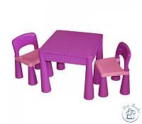 Комплект Tega MAMUT стол+2 стула MT-001 899 light violet/dark violet