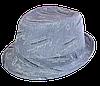 Шляпа челентанка х/б мелкий принт голубой