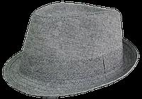 Шляпа челентанка х/б серый однотон