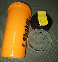 Шейкер з сіточкою для спортивного харчування 700 мл, фото 3