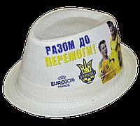 Шляпа челентанка фотопринт лен Евро 2016