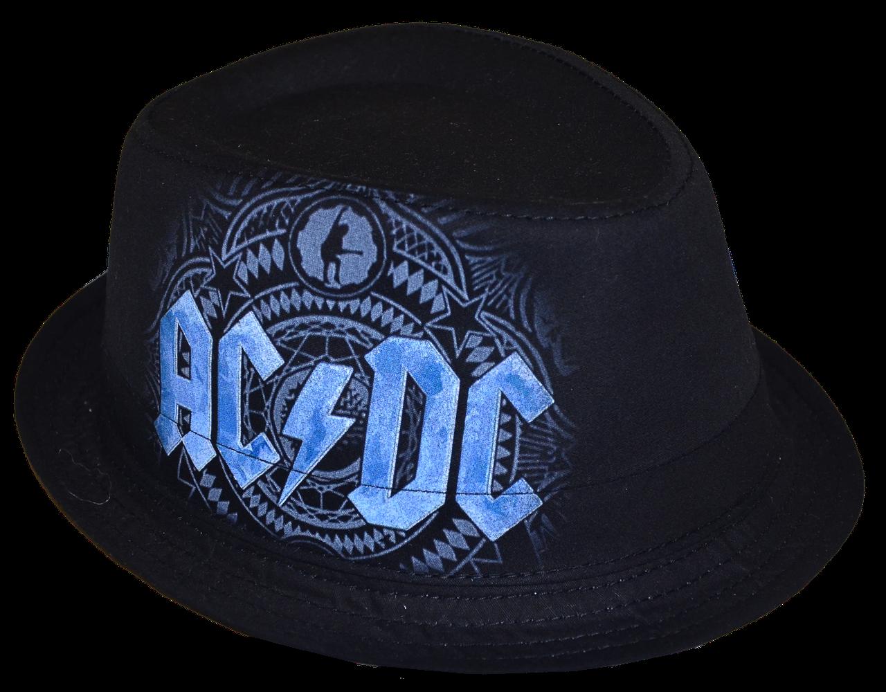Шляпа челентанка фотопринт х/б AC&DC