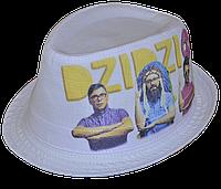 Шляпа челентанка фотопринт х/б ДзиДзьо