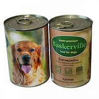 Baskerville КРОЛИК с вермишелью и морковью, консервы для собак, 400г