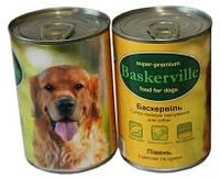 Baskerville ПЕТУХ с рисом и цуккини, консервы для собак 800 гр.