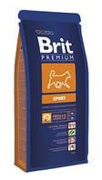 Brit Premium Sport 15кг-корм для собак с высокой активностью