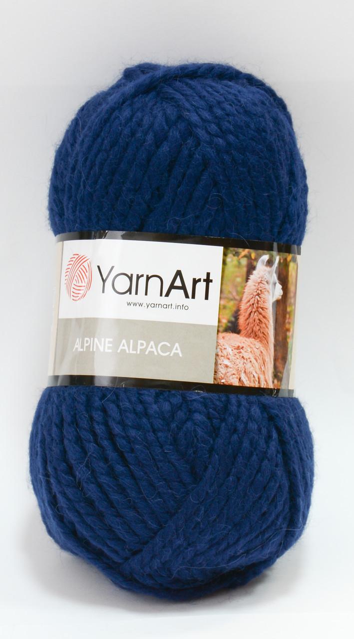 Пряжа alpine alpaca - цвет темно-синий