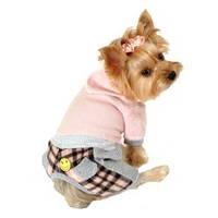MonkeyDaze ДЖАМПЕР (pink flannel jumper) розовый костюмчик, одежда для собак XS