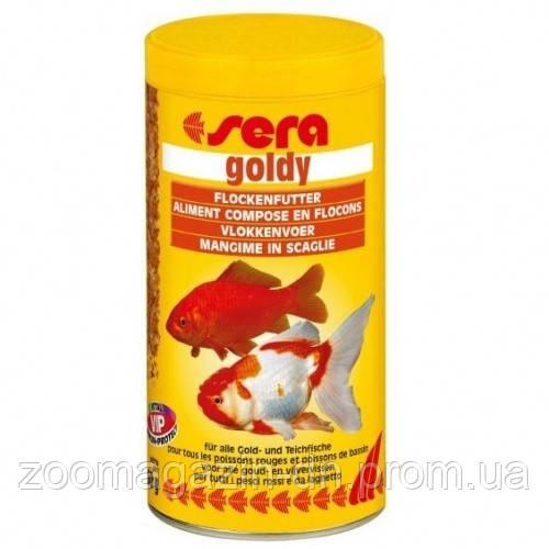 Sera goldy - корм д/золотих рибок. Пластівці 100 мл