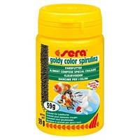 Sera goldy color spirulina - корм д/золотих рибок зi спiрулiною. Д/забарвлення 100 ml