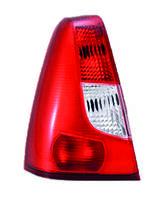 Фонарь / стоп задний левый красно-белый QSP Dacia / Renault Logan фаза 1, фото 1