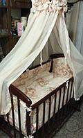 """Фирменный комплект постельного белья 9 предметов """"Мишки пара спят"""" для девочек"""