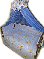 """Фирменный комплект постельного белья 9 предметов """"Жирафики"""" для мальчиков"""