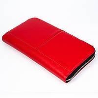 Кожаный клатч Issa Hara CL2 red