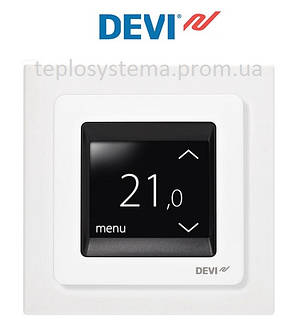 Программируемый сенсорный терморегулятор Devireg™ Touch (белый) Дания, фото 2